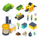 Garbage Isometric Icon Set Stock Image