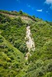 Garbage kills nature near Parga, Greece. Garbage kills nature near Parga in Greece Royalty Free Stock Images