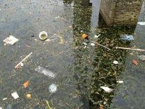 Garbage in the lake Atitlan, San Juan, Guatemala Stock Image