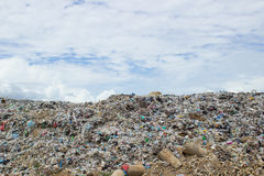 Garbage in landfill. Rubbish dump of landfill garbage Royalty Free Stock Images