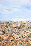 Garbage in landfill Royalty Free Stock Image
