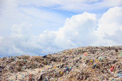 Garbage in landfill. Rubbish dump of landfill garbage royalty free stock photo