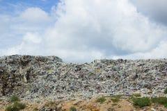 Garbage in landfill. Rubbish dump of landfill garbage royalty free stock image