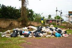 Garbage in landfill Stock Photos