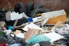 Garbage in landfill Stock Photo