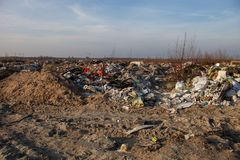 Garbage on the landfill Stock Photo