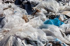 Garbage on the landfill Stock Image