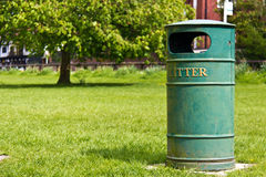 Garbage litter bin at the park Royalty Free Stock Photo