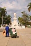 Garbage man In Cuba Royalty Free Stock Photo