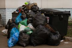 Garbage mountain, ecological problem. Ecology royalty free stock photo