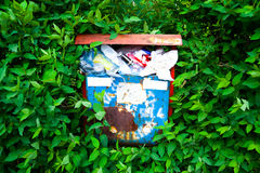 Garbage and nature environment Royalty Free Stock Photos