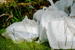 Garbage in nature Stock Photography