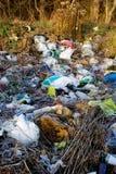 Garbage outdoors Royalty Free Stock Photo