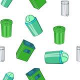 Garbage pattern, cartoon style Stock Photography