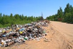 Garbage pit Stock Image