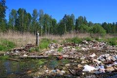 Garbage pit Stock Photo