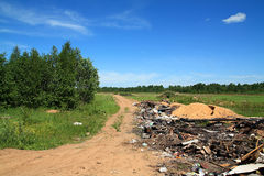 Garbage pit in wood Royalty Free Stock Photography