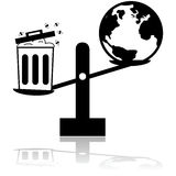 Garbage and planet scale Royalty Free Stock Photo