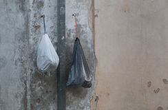 Garbage plastic bags Royalty Free Stock Image
