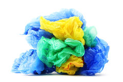 Garbage plastic bags stock photo