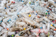Garbage plastic bottles Royalty Free Stock Photo
