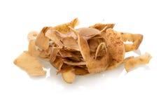 Garbage. Potato peelings isolated on white Royalty Free Stock Photos