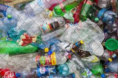 Garbage ready for recycling Royalty Free Stock Photos