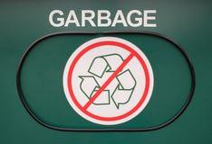 Garbage Receptacle. Door with no recyclables stock photos