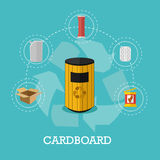 Garbage recycle concept vector illustration in flat style. Stock Images