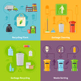 Garbage Recycling Concept Icons Set Royalty Free Stock Image