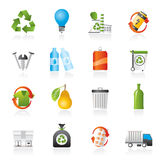 Garbage and Recycling Icons Royalty Free Stock Image