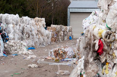 Garbage recycling industry Stock Image