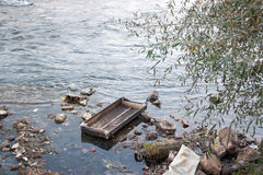 Garbage in the river Nisava Stock Photos