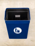 Garbage Rubbish Bin in Public for Litter Royalty Free Stock Image