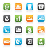 Garbage and rubbish icons Stock Photo