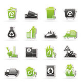 Garbage and rubbish icons Royalty Free Stock Images