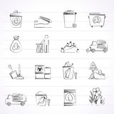 Garbage and rubbish icons Royalty Free Stock Photos