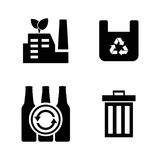 Garbage. Simple Related Vector Icons Royalty Free Stock Photography