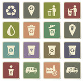 Garbage simply icons Royalty Free Stock Image