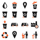 Garbage simply icons Royalty Free Stock Photography