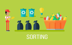Garbage Sorting Concept Royalty Free Stock Photo