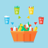 Garbage Sorting Concept Stock Photo