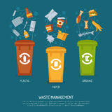 Garbage Sorting Illustration Royalty Free Stock Image