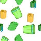 Garbage storage pattern, cartoon style Stock Image