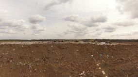 Garbage store in Moscow region. Air view stock footage