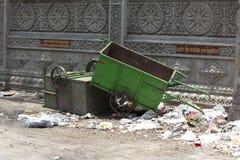 Garbage in the street of Phnom Phen, Cambodia Stock Image