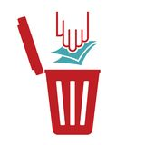 Garbage symbol - recycle paper Royalty Free Stock Photos