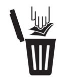 Garbage symbol - recycle paper Stock Image
