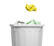 Garbage and the trash box Royalty Free Stock Photography