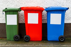 Garbage trash cans Stock Photo